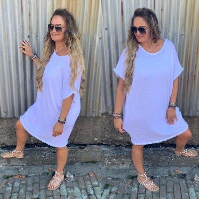 Loua 100% katoen tuniek/dress - Wit