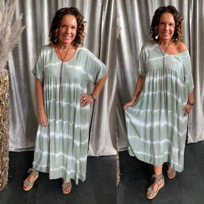 Simona batik dress - army