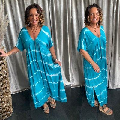 Simona batik dress - turquoise