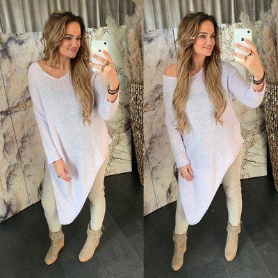 Anne Asymmetrische sweater - lilla