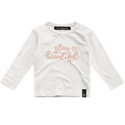 Longsleeve Stay Beautiful (off-white) - Your Wishes