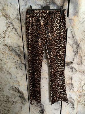 Flared broek leopard maat L/XL - twinning - Dames