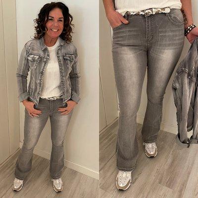 C&S Fee flair jeans Grijze denim