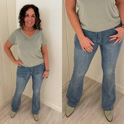 C&S Fee Flair jeans blauw denim