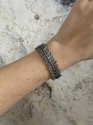 Leaves Bracelet ARMBAND - ZILVER