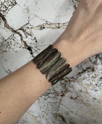FEATHER Bracelet ARMBAND - BRONS