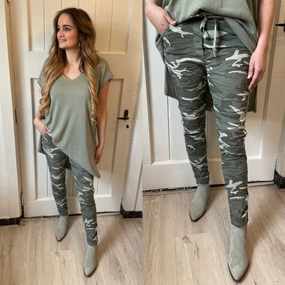 Camouflage joggingbroek - army