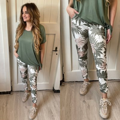 Cristina joggingbroek - army/palm