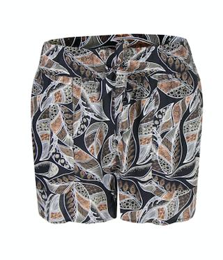 C&S Malon korte broek zwart/off-white