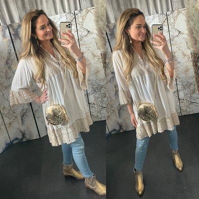 Jamila  blouse tuniek - beige