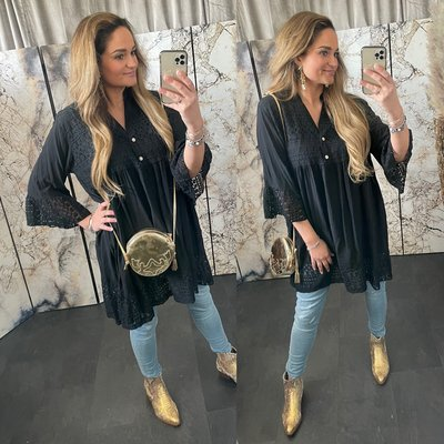 Jamila  blouse tuniek - zwart