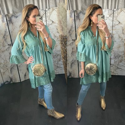 Jamila  blouse tuniek - petrol