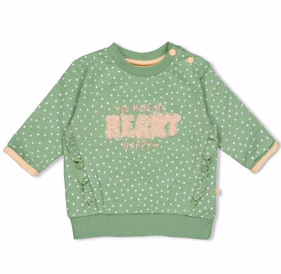 Sweater AOP - Hearts - Feetje