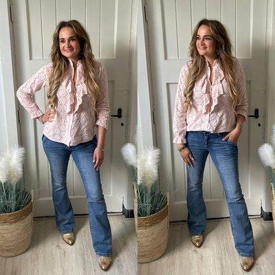Jill Roesel blouse - roze