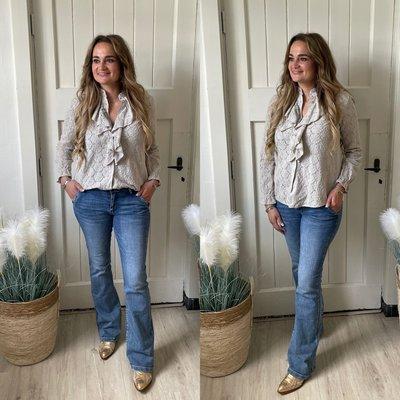 Jill Roesel blouse - beige