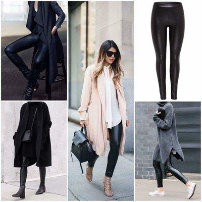 ZOE leather legging BLACK