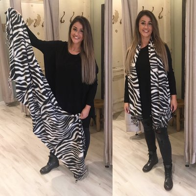 Big sjaal ZEBRA PRINT