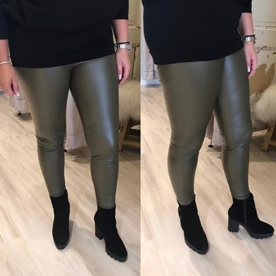 ZOE leather legging ARMY