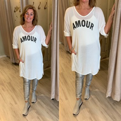 Amour Tuniek Dress - OFFWHITE