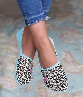 Sneakersokken Leopard