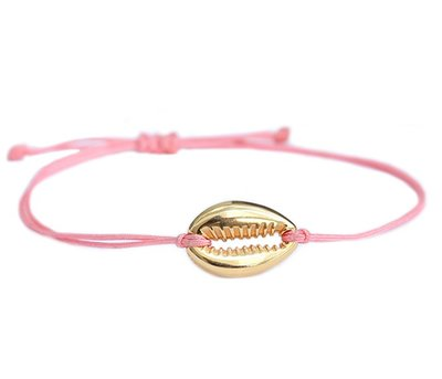 LOVE IBIZA Armband coral gold shell