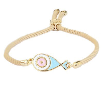 LOVE IBIZA Armband Fish naturel