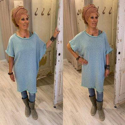 100% cotton Lizzy tuniek/dress - petrol