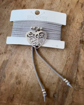 Glam factory choker ketting/armband Heart zilver 0.3