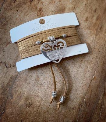 Glam factory choker ketting/armband brons 0.9