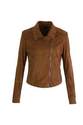 G MAXX suede biker jacket CAMEL