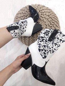 Cowgirl boots zwart/wit