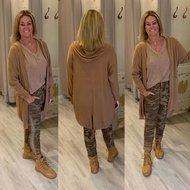 HOPE knitted capuchon vest CAMEL