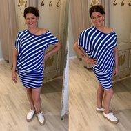 Sweet Heart streep dress - blauw