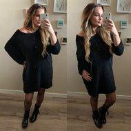 Gigi Teddy sweater - zwart inclusief dromenvanger ketting