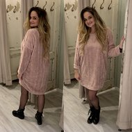 Gigi Teddy sweater - baby roze inclusief dromenvanger ketting