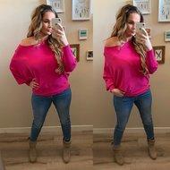 Butterfly sweater - fuchsia