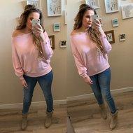 Butterfly sweater - roze