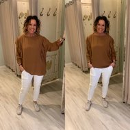 NIMO ROESEL BLOUSE - bruin