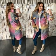 BUBBELE vest jacket long - RAINBOW 0.4