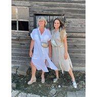 Linda Linnen dress/vest - wit