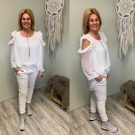 Glam Factory Roesel BLOUSE - offwhite