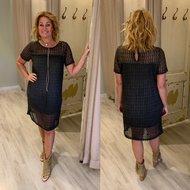 Romy Night dress - antrasiet/zwart
