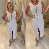 100% cotton 0.2 Justine dress - ecru